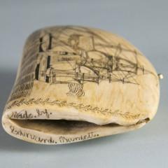 "Edward Burdett Scrimshaw ""Pacific of Nantucket"" Whale Tooth"