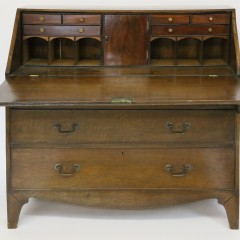 English Oak Slant Front Desk