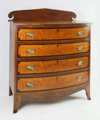 American Bow Front Chest of Drawers