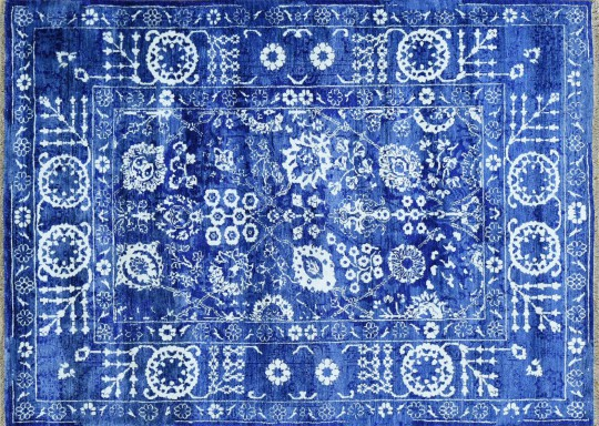 Hand Woven Tone on Tone Wool Tabriz Carpet