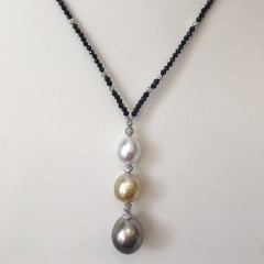 10mm – 13.5 mm South Sea Pearl Drop Necklace