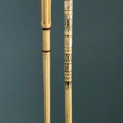 Lady's Walking Stick & Whale Ivory, Whalebone, Mother-of-Pearl, Abalone, Tortoiseshell and Baleen Walking Stick
