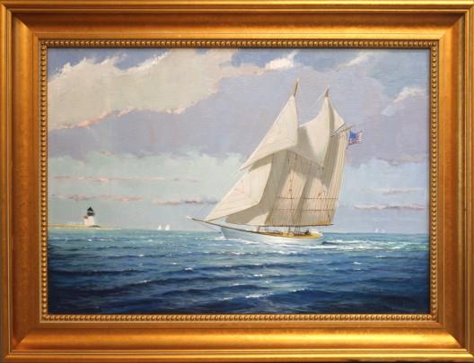 96-3520 Arriving Home – Nantucket Framed