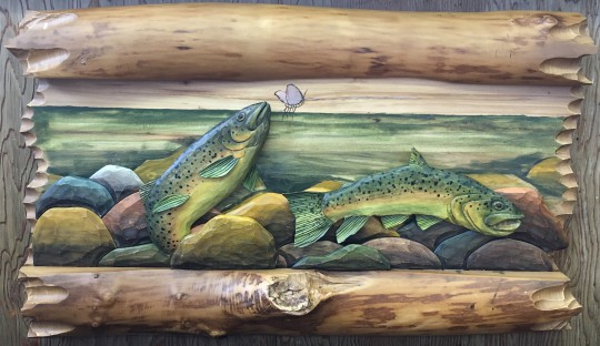 Folk Art Fish Carving 1