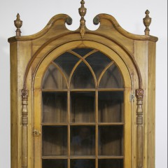 18th Century Pennsylvania Two-Part Cherry and Poplar Corner Cabinet