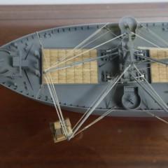 "Cased Scale Model of the World War II Ship ""Jeremiah O'Brien"""