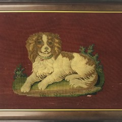 Puffy Chenille Needlepoint of a Spaniel
