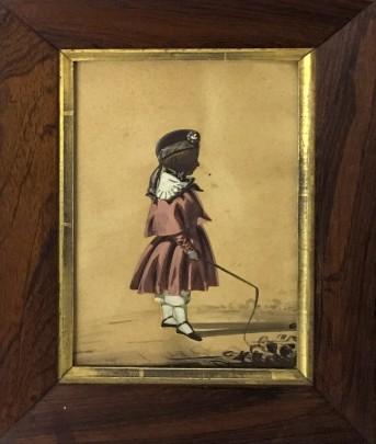 Georgian Silhouette of a Boy