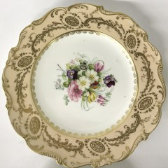 Collection of Six Coalport Hand Painted Floral Porcelain Luncheon Plates