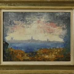 "Ruth Haviland Sutton Oil on Masonite ""The Distant Nantucket Shores"""
