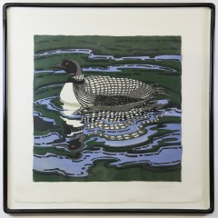 """Neil Welliver Limited Edition Color Etching """"Loon"""""""