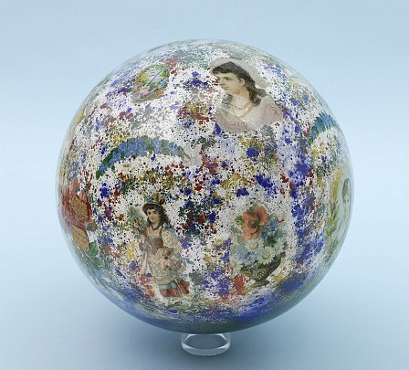 """Decalomania Glass Sphere or """"Wish Ball"""""""