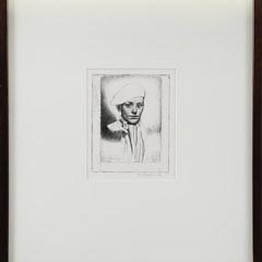 "Gerald Leslie Brockhurst Original Etching, ""Cypriano"""