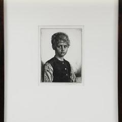 "Gerald Leslie Brockhurst Original Etching, ""Casper"", circa 1933"