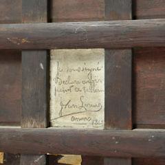 "Joseph Henri François van Lerius  Oil on Oak Cradled Mahogany Panel ""Esmeralda and and Her Pet Goat Djali"""