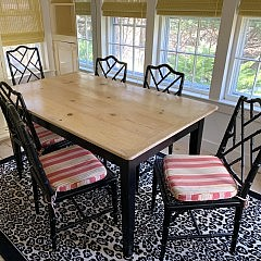 Dining Table and Bamboo Dining Chairs