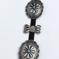 Navajo Hand Hammered and Silver and Nevada Turquoise Concho Belt