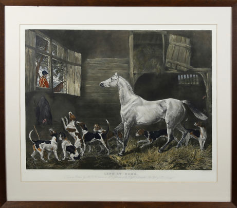 Left at Home Lithograph