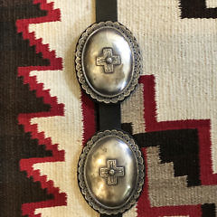 June Defauito Navajo Sterling Silver Vintage Pawn Concho Belt
