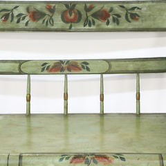 American Decorated Deacon's Bench