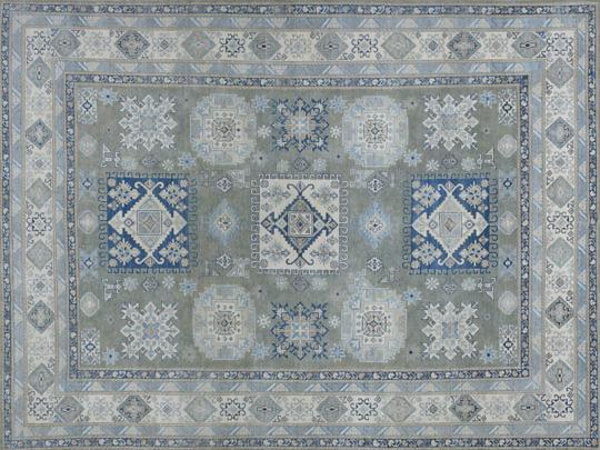48-4700 Vintage Look Kazak Oriental Rug