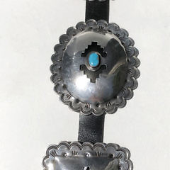 Navajo Sterling Silver and Turquoise Concho Belt