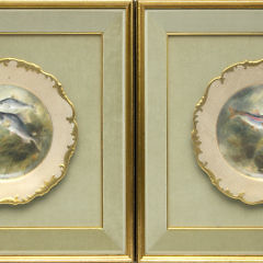 40675 Pair of Painted Fish Plates_2332