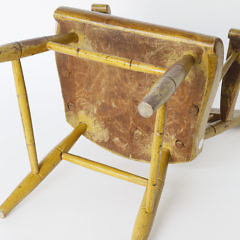 American Plank Seat Thumb-back Child's Armchair, 19th Century