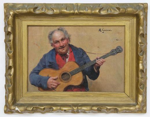 38453 Michele Garinei Oil Portrait Gent Playing Guitar_MG_3010
