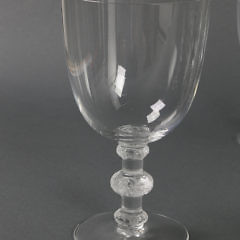 25 Lalique Crystal Stemware in the Saint Hubert Pattern