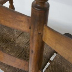 New England Rush Seat Buggy Bench, circa 1800
