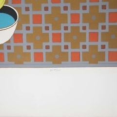 """Will Barnet Limited Edition Serigraph on Paper """"Cat and Canary"""" Ed.  69/225"""