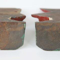 """Pair of """"Sun Bonnet Sue"""" Painted Cast Iron Bookends"""