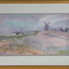 """George Holston Nantucket Watercolor on Paper """"The Old Mill, 1901"""""""