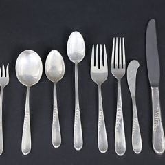 "112 Piece Reed and Barton Sterling Silver Flatware Service in the ""Silver Wheat"" Pattern"