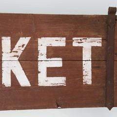 """""""Nantucket"""" Stencil Painted Barn Door"""