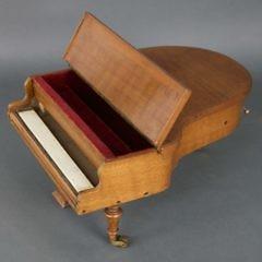 Antique Miniature Baby Grand Piano Music Box, circa 1880