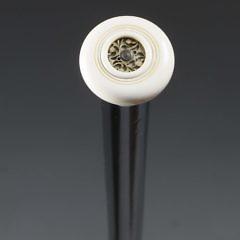 Lady's Ivory and Wood Perfume Walking Stick, circa 1900