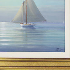 """Tim Thompson Oil on Canvas """"Light Airs Off Great Point – Nantucket"""""""
