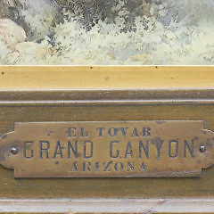 "Louis Akin Color Chromolithograph ""El Tovar – Grand Canyon – Arizona"", circa 1906"