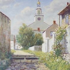 """William Paskell Oil on Canvas """"Stone Alley – Nantucket"""""""