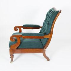 Regency Mahogany Reclining Armchair