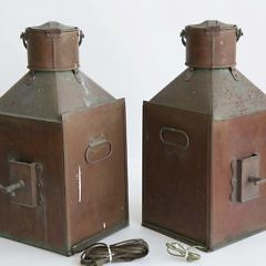 Pair of W.T. George & Co. LTD Copper Port & Starboard Ship's Lanterns