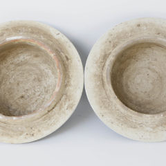 Pair of Blue and White Canton Style Temple Jars
