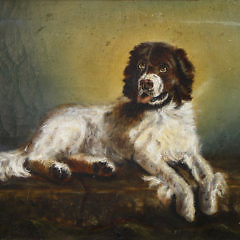 "Oil on Canvas, ""Portrait of a Newfoundland Rescue Dog"", 19th Century"