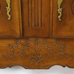 French Provincial Cherry and Pearwood Buffet, 18th Century