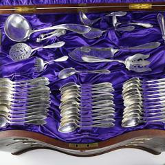 192 Piece International Sterling Silver Flatware Service in the Puritan Pattern, circa 1912
