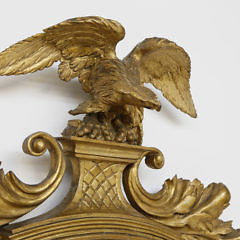 Regency Carved and Gilt Eagle Girondale Mirror, circa 1820