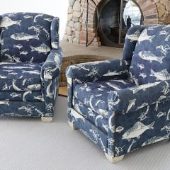 43-4803 Pair Denim Fish Upholstered Club Chairs_MG_3786