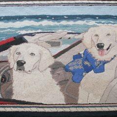 49-4803 Labrador Retrievers Hooked Rug_MG_4117